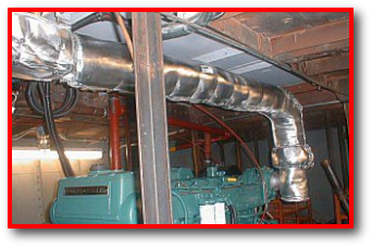 Marine generator thermal blanket and insulation components